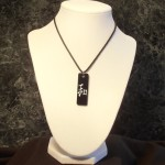 Peace Necklace - hand painted Kanji